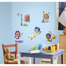 roommates 5 in x 11 5 in bubble guppies peel and stick wall bubble guppies peel and stick wall decals rmk2404scs the home depot