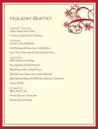 menu design for dinner party christmas buffet menu christmas menus