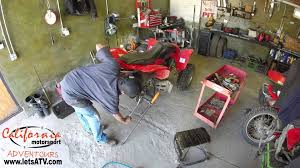 how we remove the rear axel bearing a honda trx 250 ex youtube
