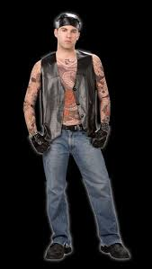costumes for men born free tattoo biker costume spiders of the web