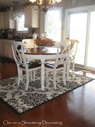 decorations simple design dining table and rug size dining room