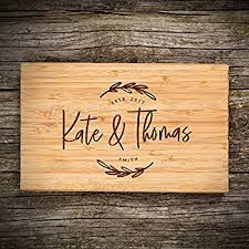 personalized wedding cutting board bamboo cutting board cheese board housewarming gifts