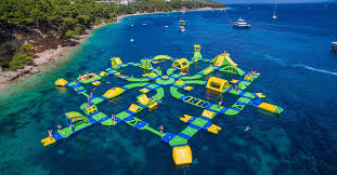 Indiana beaches images Floating water park coming to lake michigan beach northwest png