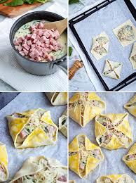 cuisine plus recette feuilleté au jambon et épinard sauce béchamel recettes
