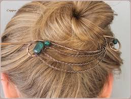 hair clasps hair clip bun holder copper hair slide hair pin hair barrette