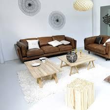 canape cuir vachette canapé 2 places alinéa en cuir vachette marron meubles