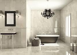 Modern Classic Bathroom by Classic Bathroom Design With Beautiful Chandelier Orchidlagoon Com