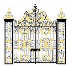 kensington palace gate london united kingdom u2014 stock vector