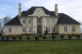 wonderful facade exterior of french country house with cream