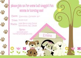 dog themed birthday party invitations oxsvitation com
