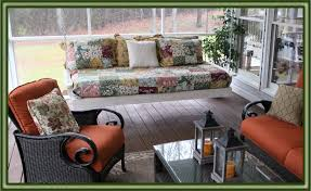 exterior comfortable terrace with porch swing bed plans daybed