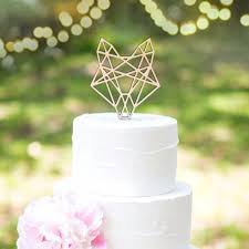 z cake topper boho cake topper geometric fox z create design