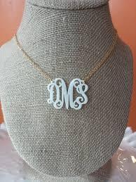 monogram necklace cheap items similar to white acrylic monogram necklace 1 5 on etsy