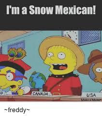 Canada Snow Meme - i m a snow mexican canada a usa make a meme freddy meme on sizzle