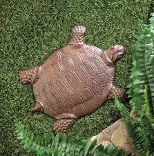 wholesale cast iron turtle stepping stone metal turtle garden art