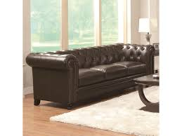 Tufted Sofa And Loveseat by Coaster Roy Traditional Button Tufted Sofa With Rolled Back And