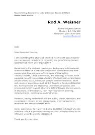 cover letter child care resume samples resume samples for child