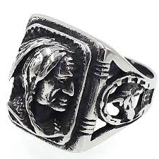 mens vintage rings images Jajafook mens vintage classic stainless steel ring biker native jpg