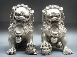 lion dog statue the three celestial guardians foo dog tattoo foo dog and dog
