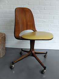 century plywood mid century plywood desk chair on wheels george mulhauser for plycraft