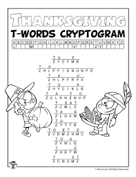 thanksgiving letter t words cryptogram woo jr activities