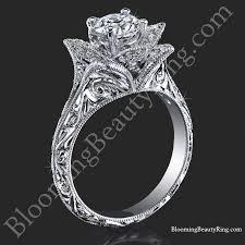 engagement rings flower design vintage engagement rings blooming ring