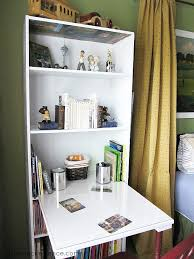 Small Desk Bookshelf Diy Bookcase Turned Desk At The Picket Fence