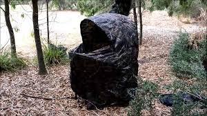 Hidden Hunter Blinds Tent Chair Youtube