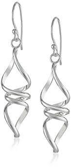 drop earrings silver sterling silver twisted drop earrings jewelry