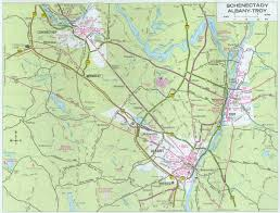 Troy New York Map by Modern Albany