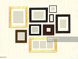 Picture Frame On Wall by Set Of Blank Picture Frame Decoration Arrangement On Wall Vector
