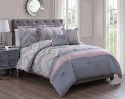 6 piece rosanne jacquard coral charcoal comforter set