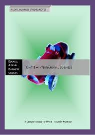 edexcel a level business studies notes unit3