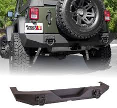Rugged Ridge Jeep Bumpers Xhd Rear Bumper Textured Black 07 17 Jeep Wrangler By Rugged