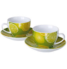 Porcelain Coffee Mugs by Original Cucina Italiana Porcelain Coffee Mug And Saucer Set Of
