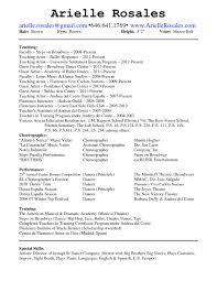 Musical Theater Resume Acting Resume Special Skills Corpedo Com