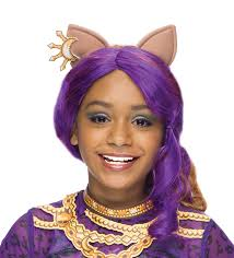 Monster High Halloween Costumes Clawdeen Wolf by Amazon Com Rubies Monster High Clawdeen Wolf Child Costume Wig