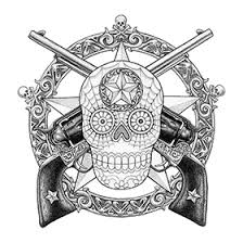 urban american tattoos with guns and mexican skull tattoo designs