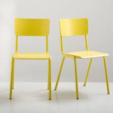 chaise d colier chaise d écolier lot de 2 hiba