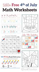 160 fourth of july printable math worksheets