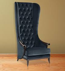 Modern High Back Wing Chair Buy Contemporary High Back Wing Chair In Black Color By Afydecor