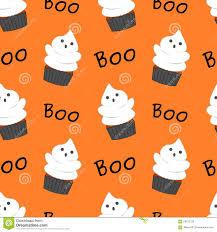 Cute Halloween Graphics by Cute Halloween Ghost Cupcake Funny Cartoon Seamless Pattern