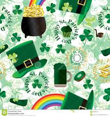 st patrick day green seamless pattern eps stock image image