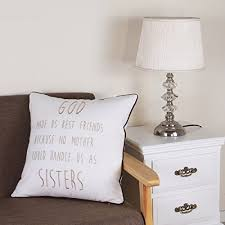 sanmetex embroidery cotton throw pillows cover god made us best