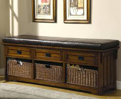 Storage Seating Bench Coat Rack With Baskets Storage Benches Furniture Ideas On Entryway
