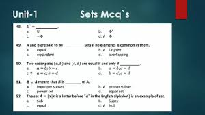 math chapter sets mcqs mcqs test of chapter sets youtube