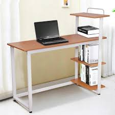online store yaheetech wood corner computer desk pc laptop table