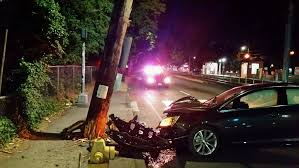 car crashes into power pole in gresham max trains delayed through
