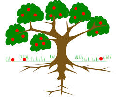 tree three roots clip at clker com vector clip