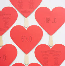 Fan Programs For Weddings Wedding Diy Heart Shaped Programs U2014 Hello Lucky